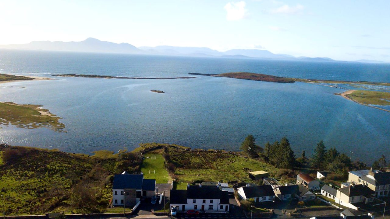 House with Clew Bay in Background